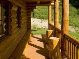 SRUB METUJE - venkovní terasa